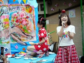 Photo: 歌謡曲とライブペイントのコラボ