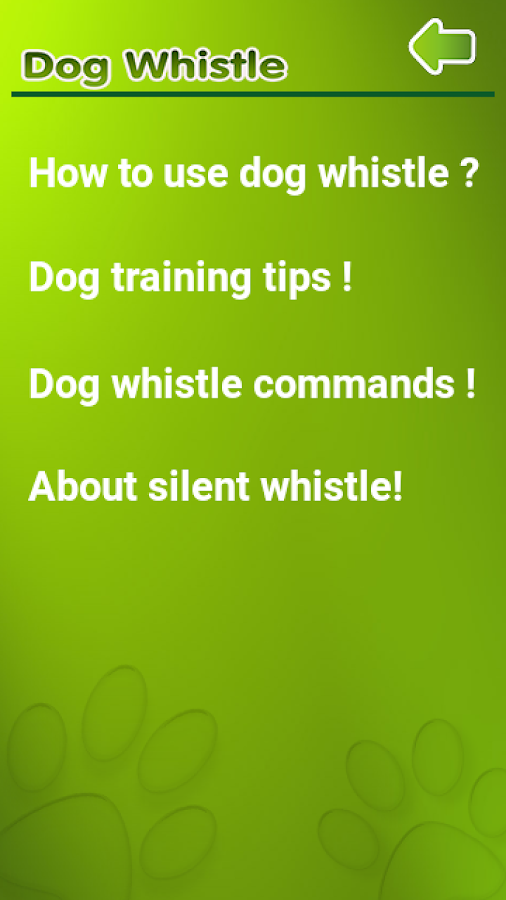 Dog Whistle, Trainer 2017- screenshot