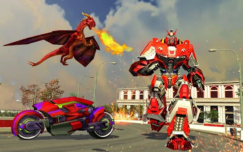 Flying Fire Dragon Robot Transform Bike Robot Game 3