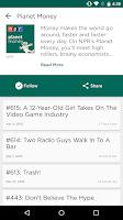 Screenshot of NPR One