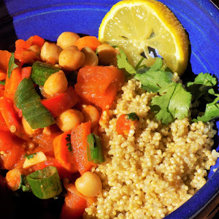 Red Pepper Chickpea Stew (low-FODMAP, gluten-free, & vegan)