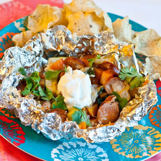 Chipotle Sweet Potato and Chicken Sausage Foil Packets