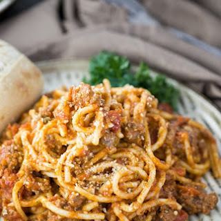 Instant Pot Spaghetti and Meat Sauce.