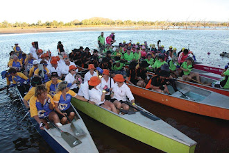 Photo: Landing in the Lily Lagoon – 55kms later  photo by: Ave Gassman of the Kununurra Dragon Boat Club