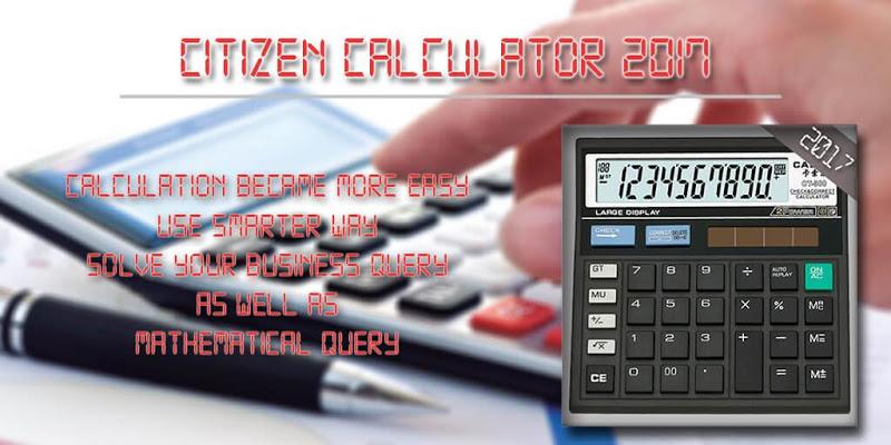 Citizen Calculator 2017 - screenshot