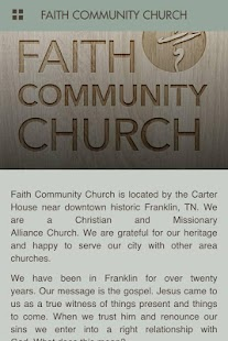Faith Community ChurchFranklin- screenshot thumbnail