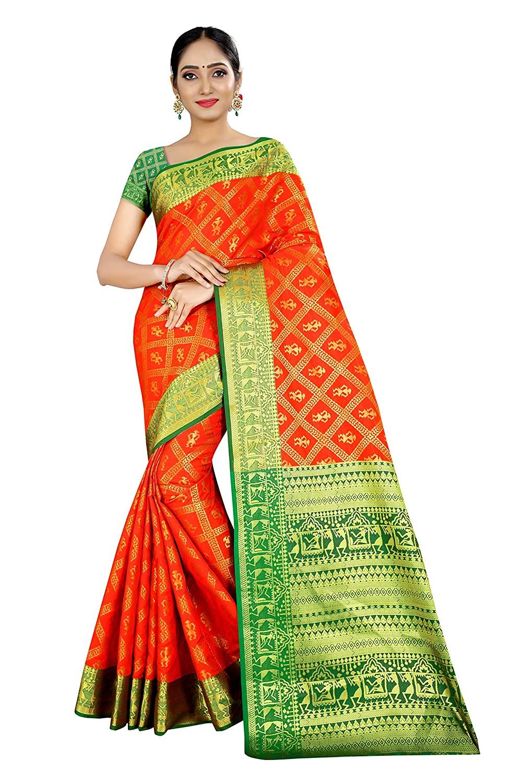 Woven Paithani Silk Blend