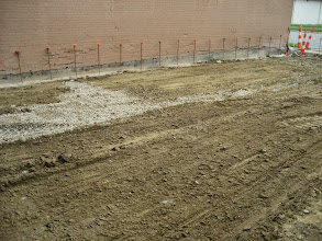 Photo: Foundation and future floor of the educational addition