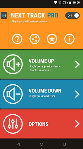 Next Track: Skip tracks with volume buttons Mod Apk Latest Version