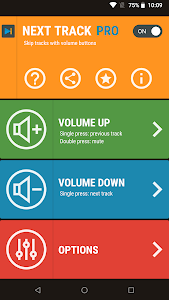 Next Track: Skip tracks with volume buttons 1.20 (Pro)