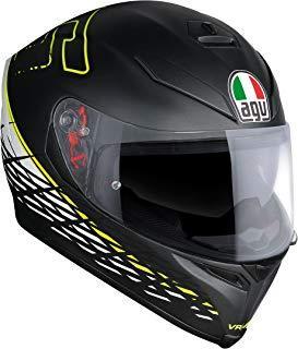 AGV Casco Moto K-5S E2205Top plk, Thorn 46Matt Black/Blanco/Amarillo, S