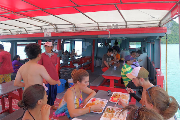 Lunch aboard the big boat