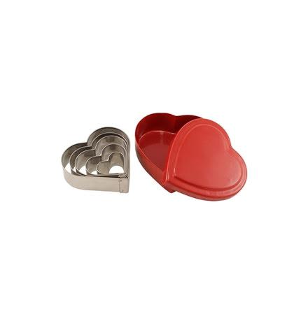Hjärtemått i söt liten plåtask
