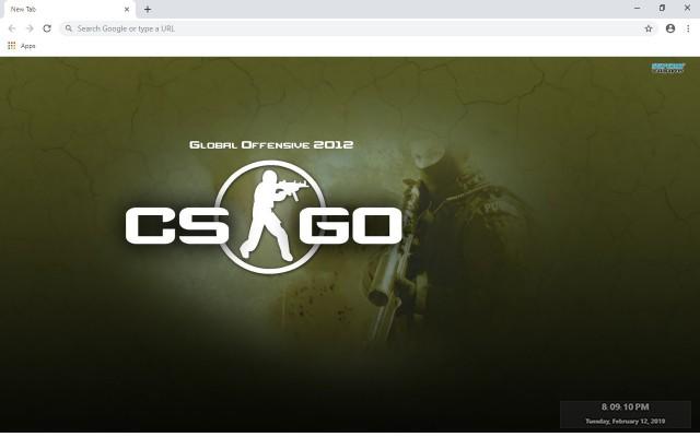 Counter Strike CS Go New Tab