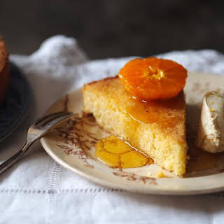 Almond And Lemon Polenta Cake With Orange Mascarpone.