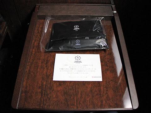 両備ホールディングス「ドリームスリーパー東京大阪号」 1964 テーブル・アメニティグッズ
