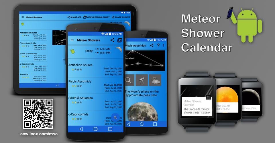 Meteor Shower Calendar- screenshot