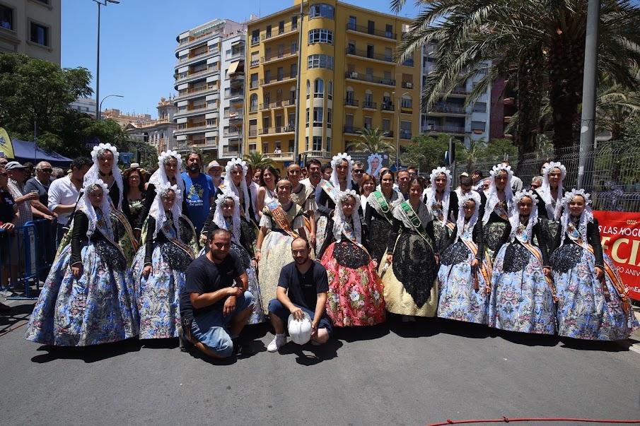 Lass Falleras Mayores de Valencia en las Fiesta de las Hogueras 2018.