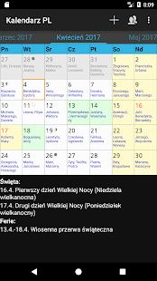 Kalendarz PL - náhled