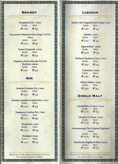 Shebestan - Sterlings MAC Hotel menu 6