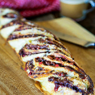 Peppermint Crunch Nutella Twisted Bread
