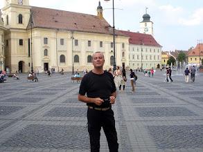Photo: Miguel Angel González Suarez (FIJET España) en la Plaza mayor de Sibiu - Rumania