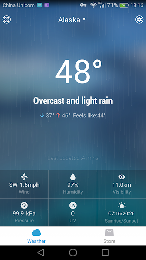Today's Weather Radar Widget Screenshot