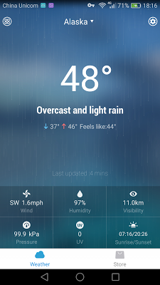 Today's Weather Radar Widget - screenshot