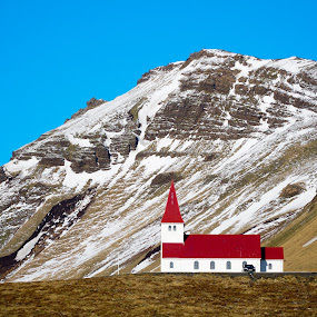 Little Church by Luke Albright - Landscapes Mountains & Hills ( sky, blue sky, mountain, mountains, chruch, snow, landscape,  )