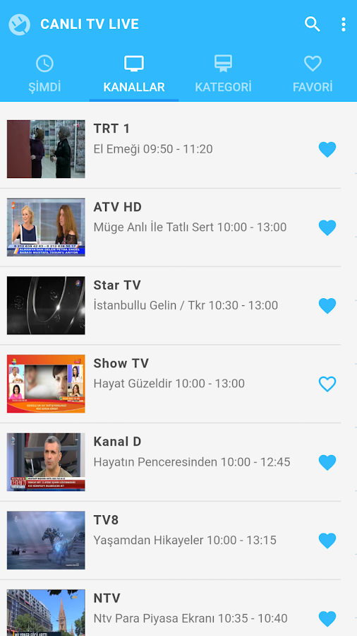 Canlı TV Live- screenshot