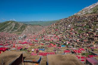 Photo: Thousands of huts at Larung Gar.