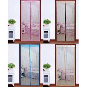Set 2 x Perdea magnetica antiinsecte - colorata, 210 x 100 cm