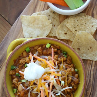 Buffalo Chicken and Bean Chili
