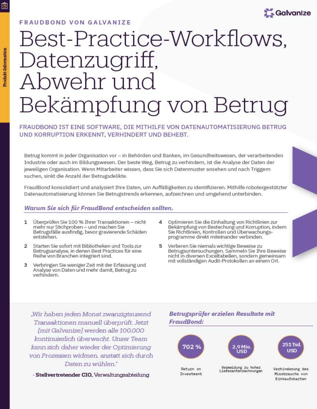 Best-Practice-Workflows, Datenzugriff, Abwehr und Bekämpfung von Betrug
