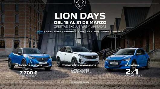 Ahorra en los Lion Days de PSA Retail Almería y Roquetas de Mar