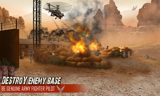 直升機飛行員空中攻擊