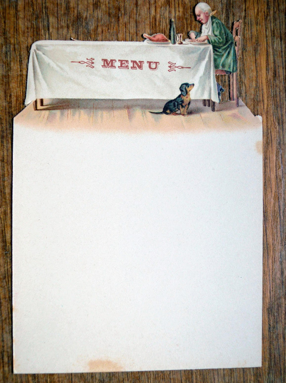 Tischkarte Menu