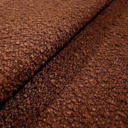 Bouclé Möbeltyg - rostbrun