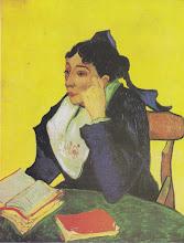 "Photo: Vincent Van Gogh, ""L'Arlesienne - Madame Ginoux con libri"""