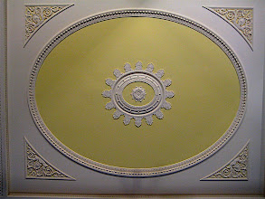 Photo: Giant plaster ceiling panel (about 20 ft across) in the Enlightenment Room at the British Museum, just one cool detail in an incredible room.