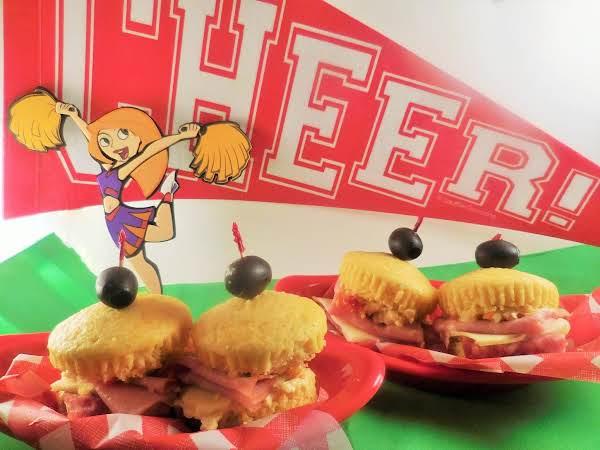 Polenta Muffuletta Muffins Recipe