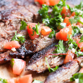 Grilled Flank Steak with Homemade Chimichurri