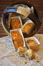 Photo: Panecillos con pimientos y setas,