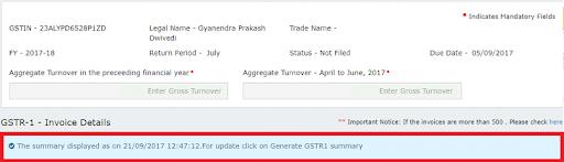 gstr1 summary portal