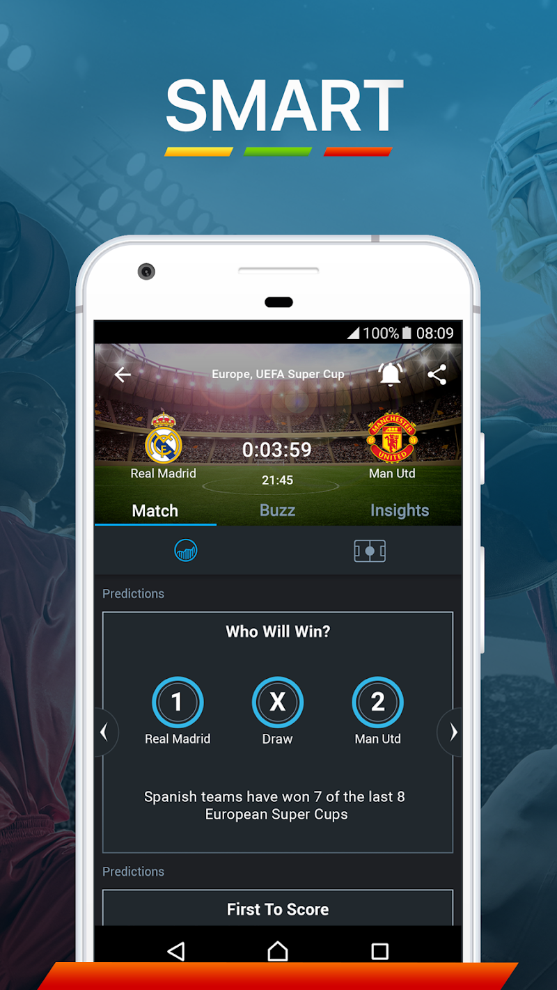 365Scores - Live Sports Score, News & Highlights Screenshot 1