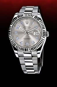a rolex watch floating