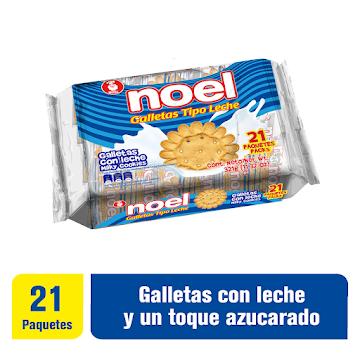 Galletas NOEL Tipo Leche   x21Paq. X321g.