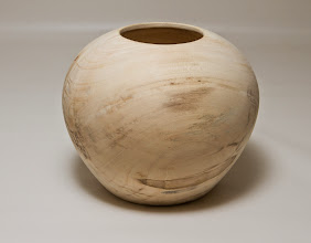 "Photo: Margaret Follas 5"" x 4"" hollow bowl [maple]"