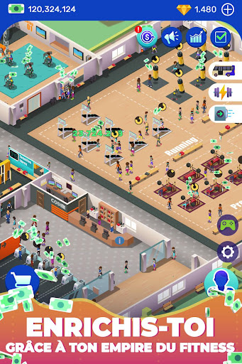 Code Triche Idle Fitness Gym Tycoon - Workout Simulator Game APK MOD screenshots 2
