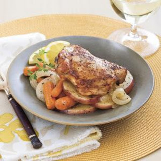 Chicken Thighs With Carrots and Potatoes